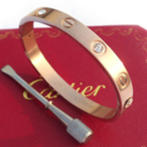 Cartier Love-Armband 18K Rose Gold mit Diamanten