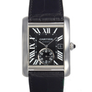 Replica Cartier Tank MC automatique cadran noir Montre W5330004