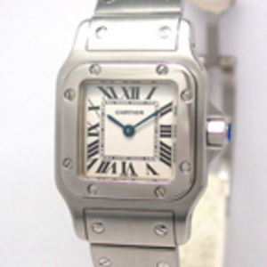 Replica Cartier Santos Galbee Steel Ladies Kellot W20056D6