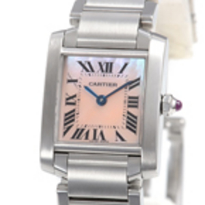 Replica Cartier Tank Francaise Rosa Dial Ladies Watch W51028Q3